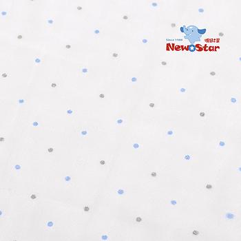 【聖哥-明日之星Newstar】MIT 100%新生兒/媽咪2層紗棉紗布巾/洗澡巾(碎花、2條入)