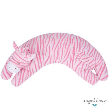 美國 Angel Dear 曲線動物大枕頭 (粉紅斑馬)