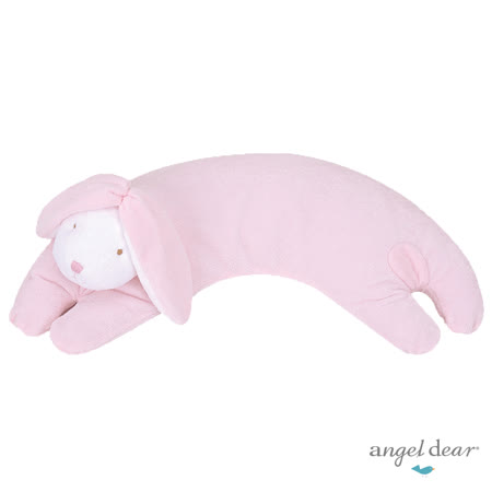 美國 Angel Dear 曲線動物大枕頭 (粉紅小兔)
