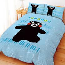 【享夢城堡】酷MA萌 音樂會系列-單人三件式床包薄被套組(藍)