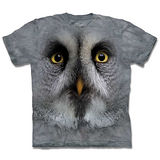 『摩達客』*大尺碼3XL*(預購)美國進口【The Mountain】自然純棉系列 灰色貓頭鷹 設計T恤