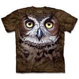 『摩達客』*大尺碼3XL*(預購)美國進口【The Mountain】自然純棉系列 斑紋貓頭鷹 設計T恤