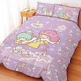 【享夢城堡】HELLO KITTY彩虹糖樂園系列-雙人四件式床包涼被組(粉)