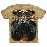 『摩達客』*大尺碼3XL*(預購)美國進口【The Mountain】自然純棉系列 跳躍蜘蛛臉 設計T恤