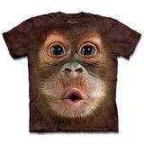 『摩達客』*大尺碼3XL*(預購)美國進口【The Mountain】自然純棉系列 可愛猩猩臉 設計T恤