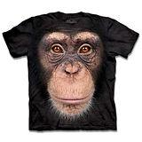 『摩達客』*大尺碼3XL*(預購)美國進口【The Mountain】自然純棉系列 黑猩猩臉 設計T恤