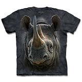 『摩達客』*大尺碼3XL*(預購)美國進口【The Mountain】自然純棉系列 黑犀牛 設計T恤