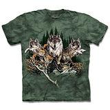 『摩達客』*大尺碼3XL*(預購)美國進口【The Mountain】自然純棉系列 尋十二狼群 設計T恤