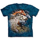 『摩達客』*大尺碼3XL*(預購)美國進口【The Mountain】自然純棉系列 尋十三馬群 設計T恤