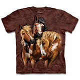 『摩達客』*大尺碼3XL*(預購)美國進口【The Mountain】自然純棉系列 尋八馬群 設計T恤