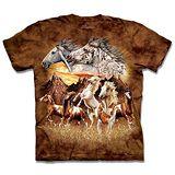 『摩達客』*大尺碼3XL*(預購)美國進口【The Mountain】自然純棉系列 尋十五馬群 設計T恤
