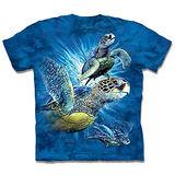 『摩達客』*大尺碼3XL*(預購)美國進口【The Mountain】自然純棉系列 尋九海龜群 設計T恤