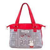 【Miffy】米菲 童話故事系列-肩背包(亮眼紅)