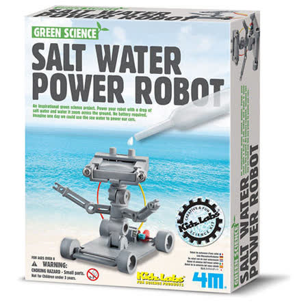 4M - 科學探索系列 - 氯化鈉機器人 Green Science-Salt Water Power Robot- (任選)