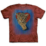 『摩達客』(預購)*大尺碼3XL*美國進口【The Mountain】自然純棉系列 愛心小貓 設計T恤