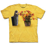 『摩達客』(預購)美國進口【The Mountain】自然純棉系列 花與小貓 設計T恤