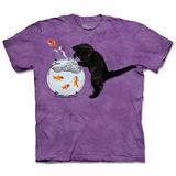 『摩達客』(預購)*大尺碼3XL*美國進口【The Mountain】自然純棉系列 抓魚小貓 設計T恤