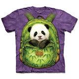 『摩達客』(預購)美國進口【The Mountain】自然純棉系列 背包熊貓 設計T恤