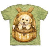 『摩達客』(預購)*大尺碼3XL*美國進口【The Mountain】自然純棉系列 背包狗狗 設計T恤