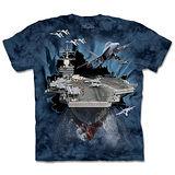 『摩達客』(預購)*大尺碼3XL*美國進口【The Mountain】自然純棉系列 突破航空母艦 設計T恤