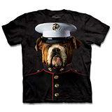 『摩達客』(預購)*大尺碼3XL*美國進口【The Mountain】自然純棉系列 海軍牛頭犬 設計T恤