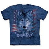 『摩達客』(預購)*大尺碼3XL*美國進口【The Mountain】自然純棉系列 愛國狼群 設計T恤