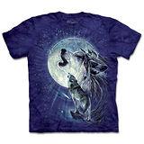 『摩達客』(預購)*大尺碼3XL*美國進口【The Mountain】自然純棉系列 滿月狼嚎 設計T恤