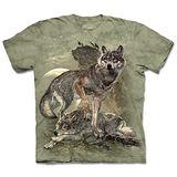 『摩達客』(預購)*大尺碼3XL*美國進口【The Mountain】自然純棉系列 保護狼群 設計T恤