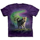 『摩達客』(預購)*大尺碼3XL*美國進口【The Mountain】自然純棉系列 極光狼群 設計T恤