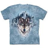 『摩達客』(預購)*大尺碼3XL*美國進口【The Mountain】自然純棉系列 藍月狼群 設計T恤