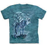 『摩達客』(預購)*大尺碼3XL*美國進口【The Mountain】自然純棉系列 樹狼側影 設計T恤