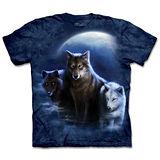 『摩達客』(預購)*大尺碼3XL*美國進口【The Mountain】自然純棉系列 邪惡三狼 設計T恤