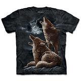 『摩達客』(預購)*大尺碼3XL*美國進口【The Mountain】自然純棉系列 土狼嚎叫 設計T恤