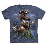 『摩達客』(預購)*大尺碼3XL*美國進口【The Mountain】自然純棉系列 北美麋鹿拼貼 設計T恤