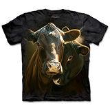 『摩達客』(預購)*大尺碼3XL*美國進口【The Mountain】自然純棉系列 心情雙牛 設計T恤