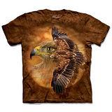 『摩達客』(預購)*大尺碼3XL*美國進口【The Mountain】自然純棉系列 棕鷹精神 設計T恤