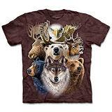 『摩達客』(預購)*大尺碼3XL*美國進口【The Mountain】自然純棉系列 北美動物拚貼 設計T恤