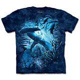 『摩達客』(預購)*大尺碼3XL*美國進口【The Mountain】自然純棉系列 雙髻鯊群 設計T恤