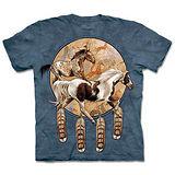 『摩達客』(預購)*大尺碼3XL*美國進口【The Mountain】自然純棉系列 奔馬捕夢網 設計T恤