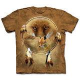 『摩達客』(預購)*大尺碼3XL*美國進口【The Mountain】自然純棉系列 狐瞳捕夢網 設計T恤