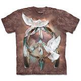 『摩達客』(預購)*大尺碼3XL*美國進口【The Mountain】自然純棉系列 和平鴿捕夢網 設計T恤