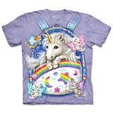 『摩達客』(預購)*大尺碼3XL*美國進口【The Mountain】自然純棉系列 背包獨角獸 設計T恤