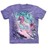 『摩達客』(預購)*大尺碼3XL*美國進口【The Mountain】自然純棉系列 極光獨角獸 設計T恤