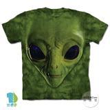 『摩達客』(預購)*大尺碼3XL*美國進口【The Mountain】自然純棉系列 綠ET臉 設計T恤