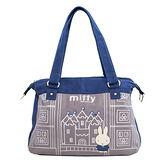 【Miffy】米菲 童話故事系列-肩背包(靛藍色)