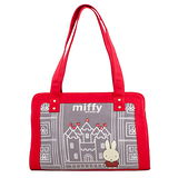 【Miffy】米菲 童話故事系列-側背包(亮眼紅)