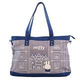 【Miffy】米菲 童話故事系列-托特包(靛藍色)