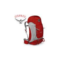 【美國 OSPREY】Kestrel 58 登山背包/自助旅行背包.攻頂背包.適休閒旅遊.跑步.壯旅.隨身行李背包 / 紅色