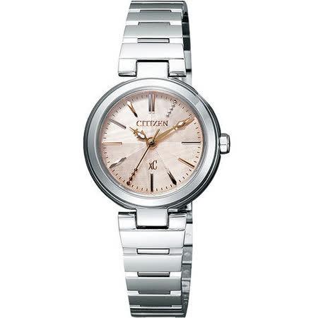 CITIZEN xC 優美風情時尚腕錶-粉橘 FE2020-66X