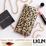 【韓國原裝潮牌 LKUN】Samsung Note2 N7100 專用保護皮套 100%高級牛皮皮套㊣ (經典豹紋)